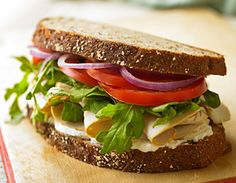 Herb Turkey Sandwich  A warm and toasty treat from The Biggest Loser Quick & Easy Cookbook by Chef Devin Alexander