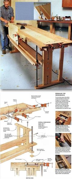 Workbench Plans - Workshop Solutions Plans, Tips and Tricks | http://WoodArchivist.com