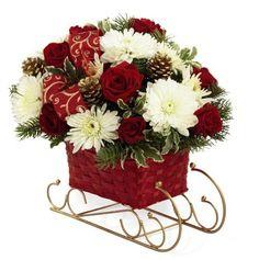Christmas flower arrangements | Google images, Floral arrangement ...