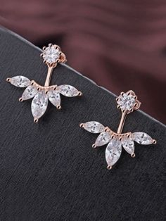 Ct Studded Pear & Round Diamond Earring Rose Gold in Jewelry & Watches, Fine Jewelry, Fine Earrings, Diamond Stock Clearance Sale, 18k Rose Gold, Pear, Diamond Earrings, Jewelry Watches, Fine Jewelry, Diamonds, Brooch, Brooches