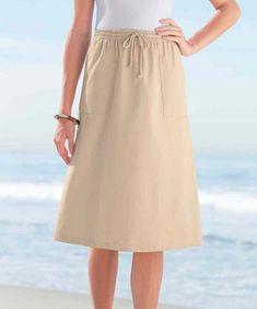526303a3cf4 Damart Chambray Skirt Stone Size 18 rrp 19.00 SA079 AA 19  fashion  clothing