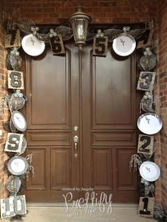 """""""Episode 74: Happy New Year Door!"""" -- Click through for close-ups and a video of this pretty count-down door."""