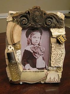 Mosaic art picture frame