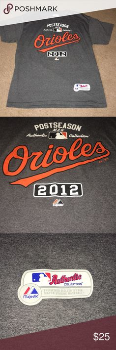 MLB Post Season Orioles Shirt (2012) Only worn once for a game. A 2012, MLB Post Season Baltimore Orioles t-Shirt. Basically brand new, fantastic condition. Great for a Baltimore fan or a baseball fan. Size Large. Smoke free home. MLB Shirts Tees - Short Sleeve