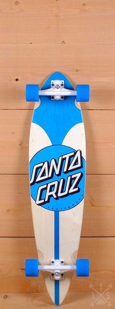 "Santa Cruz Prebuilt 39"" Azul Dot Pintail Cruzer Longboard"