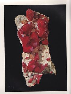 Realgar from Washington from The World's Finest Minerals and Crystals by Peter Bancroft A Studio Book, The Viking Press, New York, 1973