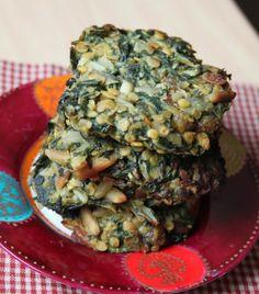Galettes de blettes à la réunionnaise (lentilles corail, colombo, raisins secs, citron vert et gingembre)