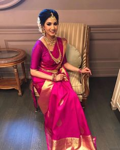 hairstyles in saree fashion styles & hairstyles in saree . hairstyles in saree fashion styles . hairstyles in saree low buns Bridal Sarees South Indian, Indian Bridal Outfits, Indian Bridal Fashion, Indian Bridal Wear, Indian Wedding Sarees, Tamil Wedding, Indian Sarees, Saree Jewellery, Wedding Saree Collection