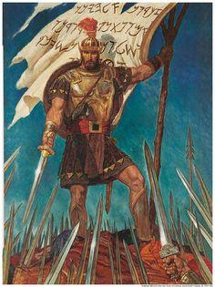 Captian Moroni raises the Title of Liberty * Alma 46