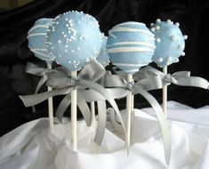 Something blue-Regular cake pops with additional charge for ribbons. Something blue-Regular cake pops with additional charge for ribbons. Baby Shower Cake Pops, Baby Shower Cakes For Boys, Baby Boy Cakes, Baby Shower Parties, Baby Shower Themes, Baby Shower Decorations, Baby Boy Shower, Baptism Cake Pops, Shower Ideas