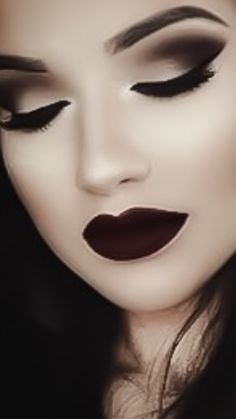 56 Ideas Makeup Looks Dark Lipstick Shades Makeup Fx, Artist Makeup, Punk Makeup, Witch Makeup, Makeup Tips, Beauty Makeup, Makeup Ideas, Makeup Goals, Evil Makeup