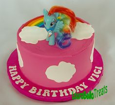 My Little Rainbow Pony 'toy pony on cake'