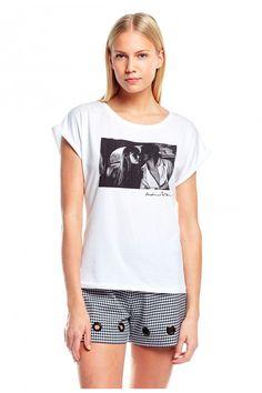 T-Shirt TATOU BIS blanc - Tshirt Manches Courtes Femme - Claudie