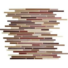 Daltile Caprice Glass Mosaic - F172 Crimson Blend - 5/16 X Random Linear Glass Tile Mosaic * SAMPLE *