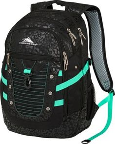 High Sierra Tactic Backpack Chic Leopard/Black/Aquamarine - via eBags.com!