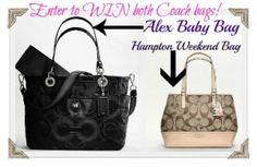 Coach Handbag Set Pin It Giveaway. I need this!!!