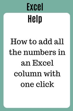 Use SUM function to add up a column or row of cells in Excel In this tutorial you will learn three ways to add all the numbers in a column or on a row in Excel. The methods described are: simple addition SUM() function the AUTOSUM button Life Hacks Computer, Computer Lessons, Technology Lessons, Computer Help, Computer Tips, Microsoft Excel Formulas, Excel Macros, Computer Shortcut Keys, Powerpoint Tutorial