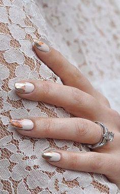 Chic Wedding Nail Art Idea