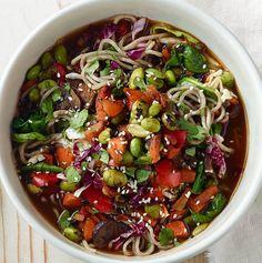 soba noodle bowl with edamame. (Panera copycat) | healthy recipe ideas @xhealthyrecipex |