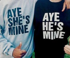 When I get a boyfriend, im totally getting these! Get A Boyfriend, Boyfriend Gifts, Boyfriend Ideas, Swag Couples, Cute Couples, Cute Couple Outfits, Kodak Moment, Cutest Thing Ever, Couple Shirts