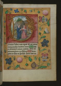 ussem Hours, this time depicting the visitation.  Image source: Walters Museum MS W. 437.