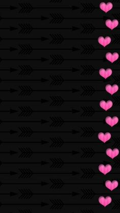 Pink And Black Wallpaper, Android Wallpaper Black, Black Background Wallpaper, Hipster Wallpaper, Flower Phone Wallpaper, Pink Wallpaper Iphone, Heart Wallpaper, Butterfly Wallpaper, Wallpapers Android
