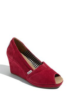 I'll bet daughter #2 would love these.  Tom's RED corduroy; yes, please