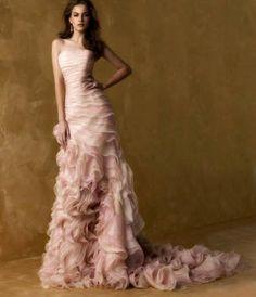 Imagens de vestidos rosa para noivas