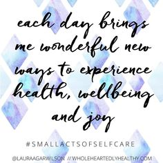 #smallactsofselfcare