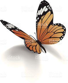 Mariposa monarca illustracion libre de derechos libre de derechos