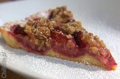 ChilliBite.pl - motywuje do gotowania!: Bardzo kruchy, rustykalny placek ze śliwkami i cyn... Pecan, Risotto, Waffles, Steak, Good Food, Breakfast, Ethnic Recipes, Desserts, Blog