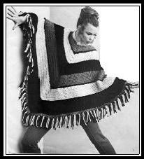 Free Crochet Pattern Blast from the past Poncho