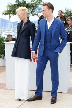 Tilda Swinton and Tom Hiddleston