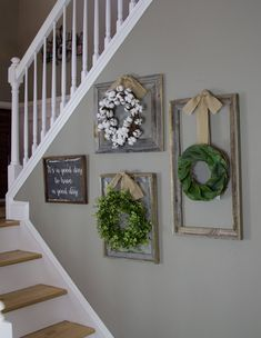 Farmhouse wreath Gallery Wall Decor Rustic Decor Fixer