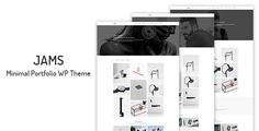 Jams - Minimal Portfolio WordPress Theme by Prime-Themes  Jams is Minimal Portfolio WordPress Theme. It can solve all your portfolio problems.Jams can be used for many purposes starting f