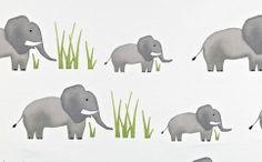 Prestigious Textiles Jumbo Elephant Fabric By The Metre Cotton Children's Print Kids Childrens Curtains, Kids Curtains, Grey Curtains, How To Make Curtains, Made To Measure Curtains, Elephant Curtains, Elephant Fabric, Elephant Print
