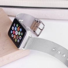 Ready to take your Apple Watch to the a new level of sophistication? Our Stainless Steel Mesh bands bring a trendy, eye-catching design to your Apple Watch. All of our watch bandswork with all versions Apple Watch, includingSeries 1, 2, 3, and 4.The 42mm band works with the 44mm Series 4 case; the 38mm band works w Office Gadgets, Apple Watch Accessories, Mesh Band, Stainless Steel Mesh, Latest Gadgets, Series 4, Watch Bands, Gift Ideas, Eye