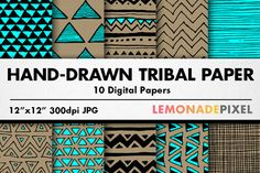 Check out Hand Drawn Tribal Pattern Pack by Lemonade Pixel on Creative Market