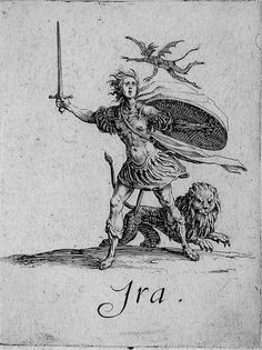 Ira, Wrath. The Seven Deadly Sins by Jacques Callot, 1621