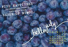 Hello July! | #July 2015 calendar wallpaper.