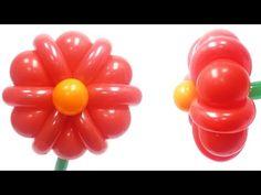 Простой Цветок из воздушных шаров - YouTube