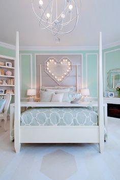 Girl Bedrooms we heart valentine's day | green bedrooms, beautiful interior