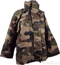 NEW French Military Army Goretex Central European Camouflaged CCE Jacket Military Army, Military Jacket, Lv Men, Gore Tex, Camouflage, French, Jackets, Down Jackets, Field Jacket