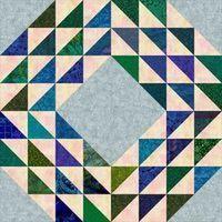My free Ocean Waves Quilt Pattern shows you how to create your own version of this popular patchwork design.: Zoom In to the Ocean Waves Quilt Block Variation