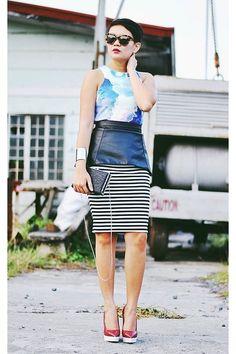 Black-box-bag-black-striped-midi-skirt-black-leather-peplum-belt