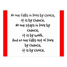 FALL LOVE CHOICE CHANCE STAYS WORK FALLS OUT LOVE