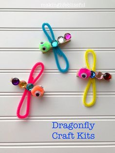 Craft kits for kids - Dragon fly craft - Crafts for kids - Insect crafts - Kids' crafts - Craft Kits For Kids, Summer Crafts For Kids, Craft Ideas, Easter Crafts Kids, Spring Crafts For Preschoolers, Circus Crafts Preschool, Kids Arts And Crafts, Simple Crafts For Kids, Crafts Fir Kids