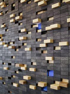 FSC-certified ash wall decoration.