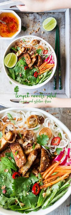 Vietnamese-inspired tempeh noodle salad is an ideal summer meal because it's fresh, zingy, light, and filling. Oh … and delicious!