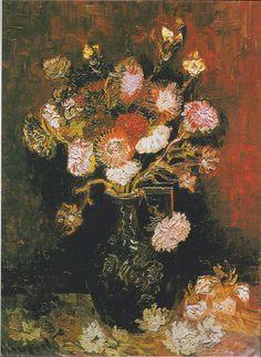 Van Gogh - Vase mit Astern und Phlox, 1886